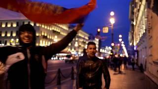Россия-Испания. Невский проспект празднует победу 2018г. Исторические кадры