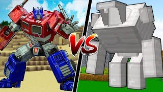 MINECRAFT TRANSFORMERS vs NEW MINECRAFT GOLEM!!