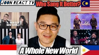 A Whole New World (aladdin Movie) // Who Sang It Better?  Indonesia V Malaysia V Philippines