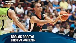 Carlos Arroyo 9 AST vs Academia - Grupo D - DIRECTV Liga de las Americas 2017