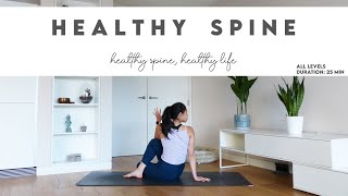 25-Min Yoga for Healthy Spine | All Levels | Lydia Lim Yoga