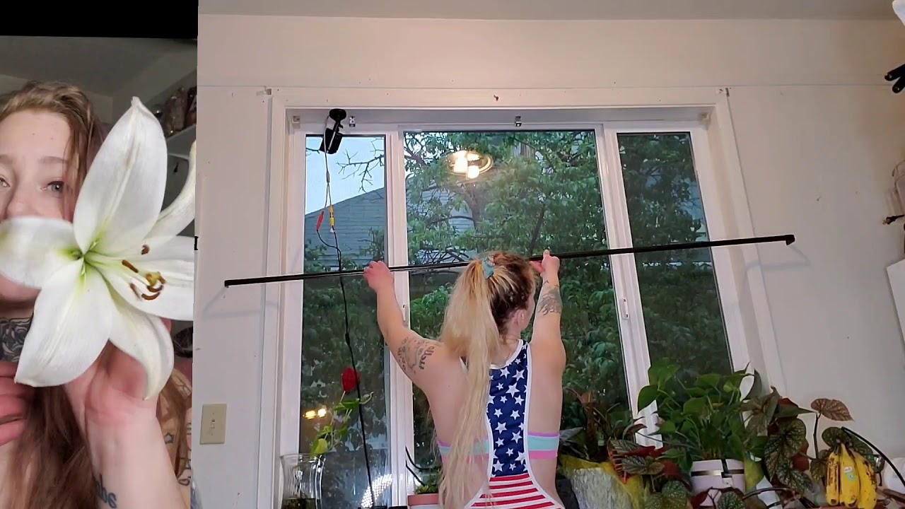 Cleaning video hanging curtains dancing 💃