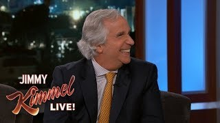 Jimmy Kimmel Gives Henry Winkler a Gift for His Emmy