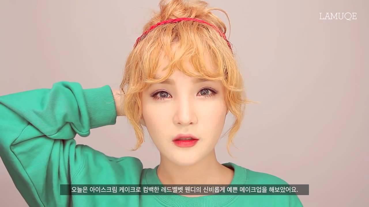 Red Velvet Ice Cream Cake Makeup