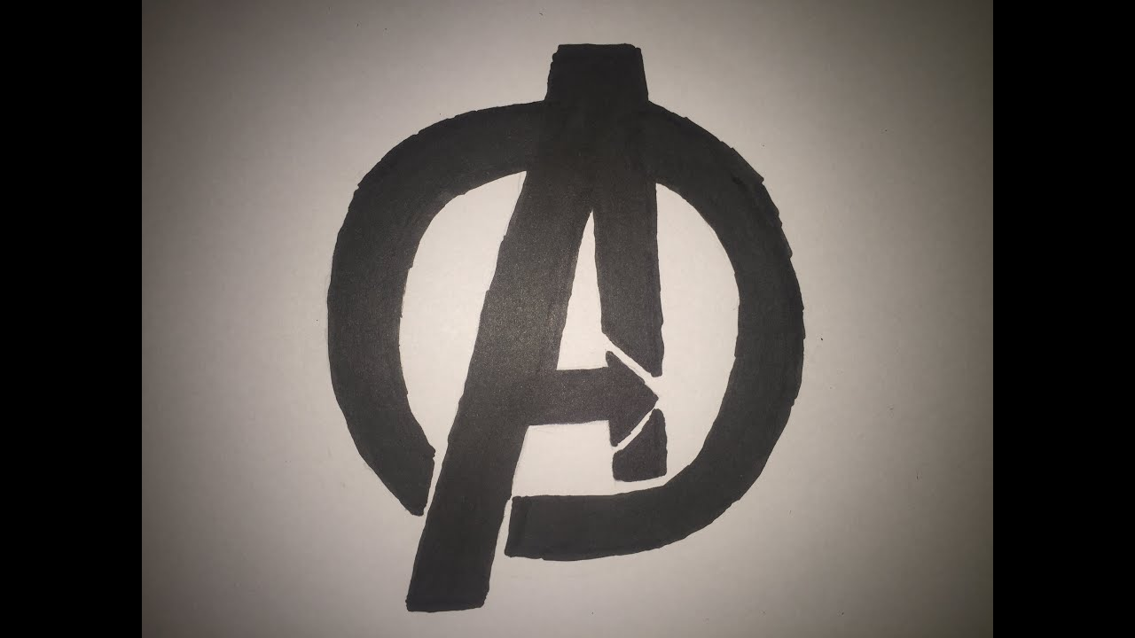 How To Draw The Avengers Logo - YouTube
