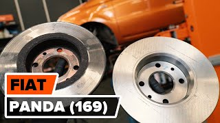 How to change front brake discs / brake rotors on FIAT PANDA (169) [TUTORIAL AUTODOC]