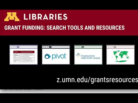 Introduction to Grants Resources at the University of Minnesota Libraries