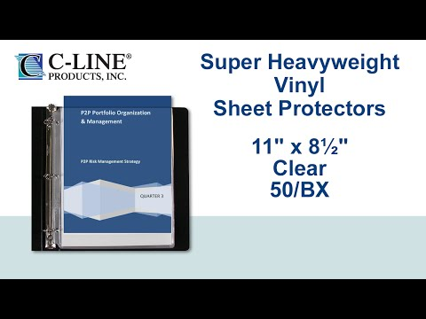Super Heavyweight Vinyl Sheet Protectors, Top Loading, 11 x 8-1/2, 50/BX- C-Line Products - 61013