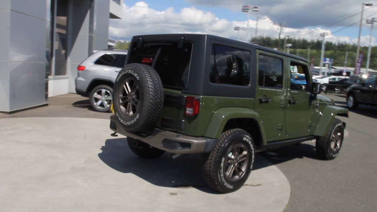 Jeep Wrangler For Sale Ontario >> 2016 Jeep Wrangler Unlimited | Sarge Green | GL294566 | Mt ...