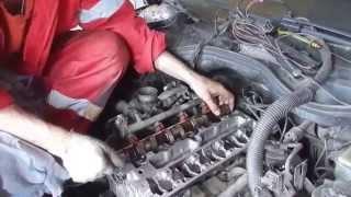 Opel Omega ремонт головки,заміна ГРМ(the timing belt repairs)