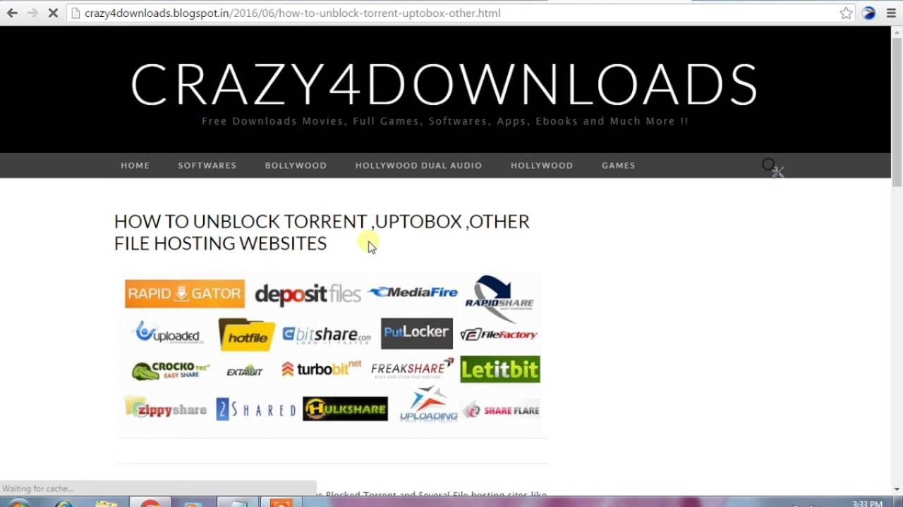 How to Unblock Torrents , UptoBox and Other File Hosting Sites
