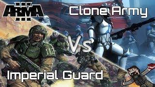 ARMA 3 - Custom Battles (Imperial Guard) vs (Clone Army)