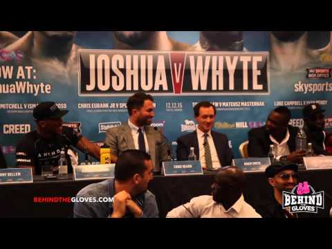 Things get too personal!!! Anthony Joshua vs Dillian Whyte press conf HIGHLIGHTS!