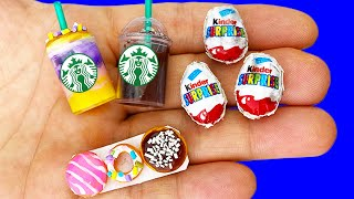 15 DIY MINIATURE FOOD AND DRINKS HACKS AND CRAFTS !!!!