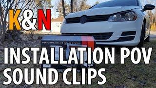2015 Volkswagen Golf TSI // K&N Installation POV & Sound Clips!