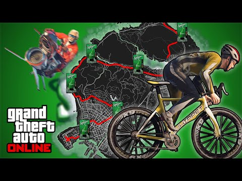 Can you Bike across the map without Dying in GTA 5 Online (The ULTIMATE Challenge)