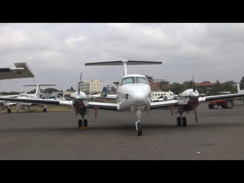 Safarilink flight, Nairobi to Maasai Mara, Kenya