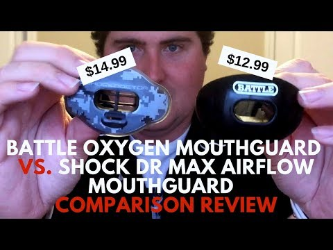 Battle Oxygen Mouthguard Vs  Shock Doctor Max Airflow Mouthguard Comparison Review