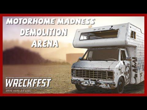 Wreckfest MotorHome Madness Gameplay PC | Big Valley Speedway Demolition Arena PC