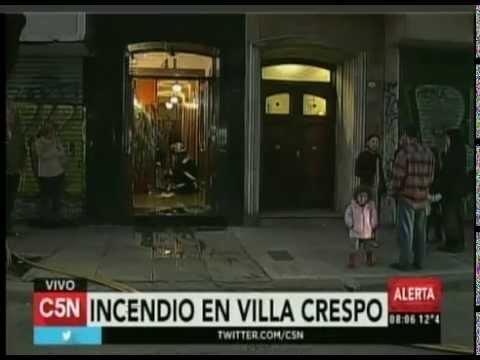 C5N - SOCIEDAD: PRINCIPIO DE INCENDIO EN VILLA CRESPO