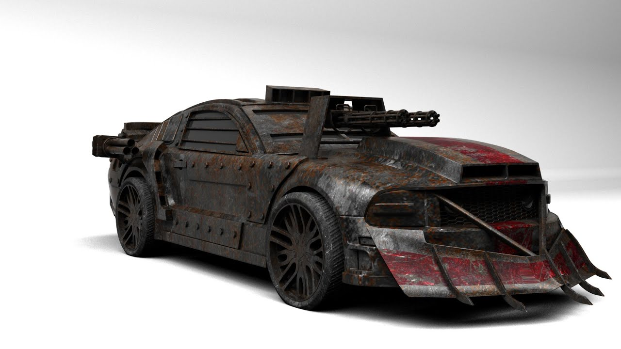 Modeling Death Race Car 3ds Max Tutorial Final Part Youtube