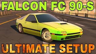 Falcon FC 90-s Ultimate Setup + Test Drive! (Mazda RX7 FC3S Savanna)   TOP CAR   CarX Drift Racing