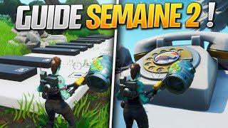 GUIDE COMPLET des DÉFIS de la SEMAINE 2 SAISON 9 de FORTNITE ! (Fortnite Astuce)