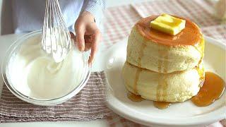 손머랭으로 두툼한 수플레 팬케이크 만들기 (노 베이킹파…