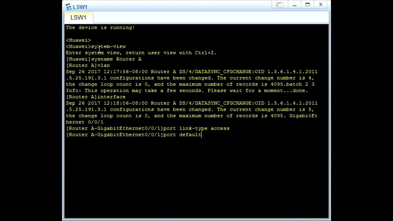 VLAN Configuration (Huawei) - Grandmetric