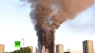 При пожаре в многоэтажном доме в Лондоне пострадали 30 человек