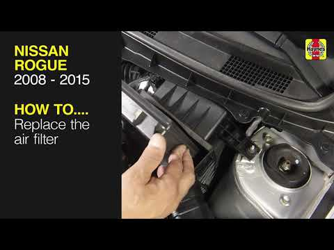 nissan rogue (2008 - 2015) - replace the air filter - youtube  youtube