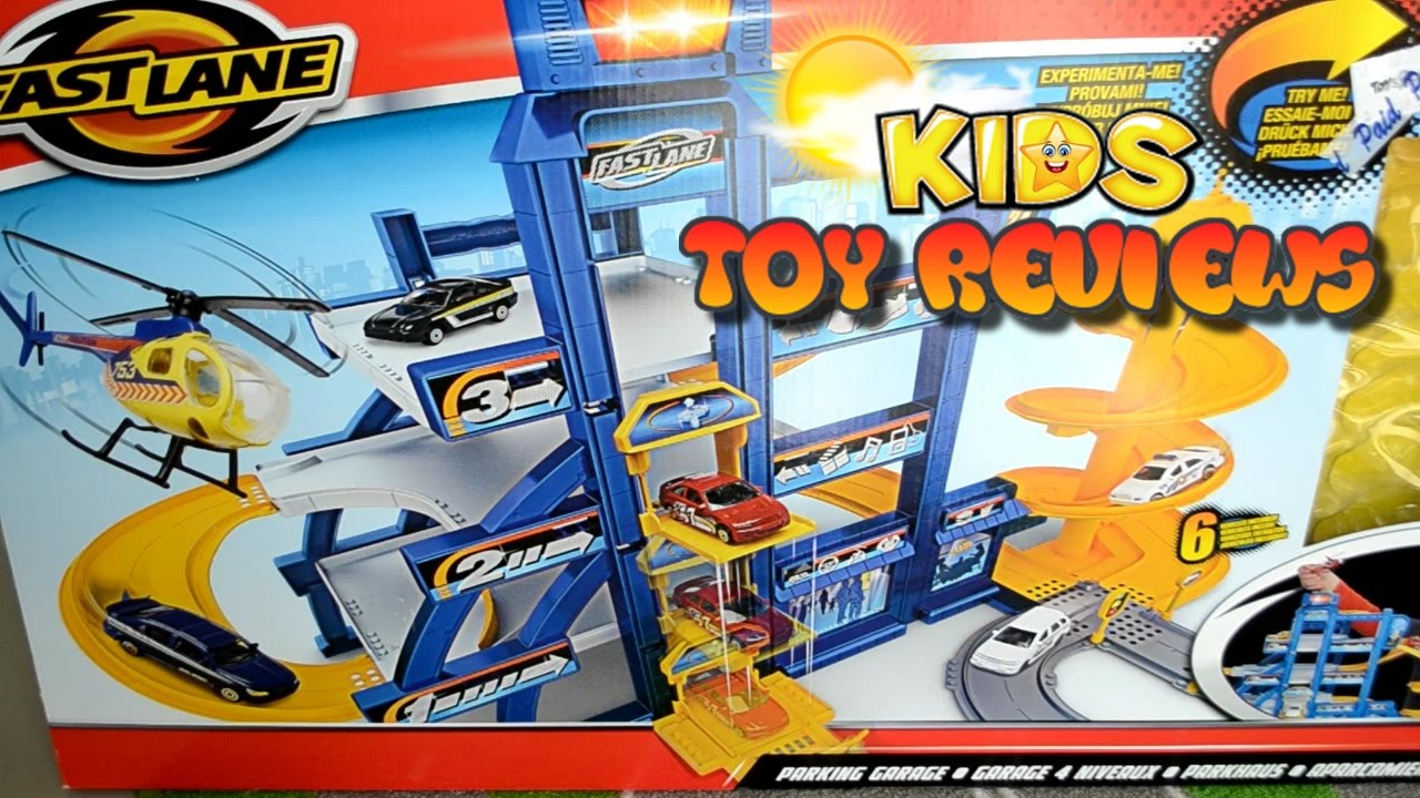 kids toy cars fast lane parking garage playtime with kids toy reviews fun toy cars for kids