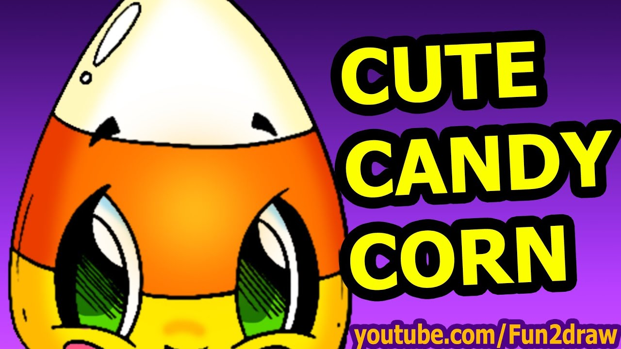 Cute Candy Corn How To Draw Halloween Cartoon Pictures Fun2draw