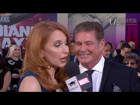 David Hasselhoff Arrives at the Guardians of the Galaxy Vol. 2 Red Carpet Premiere