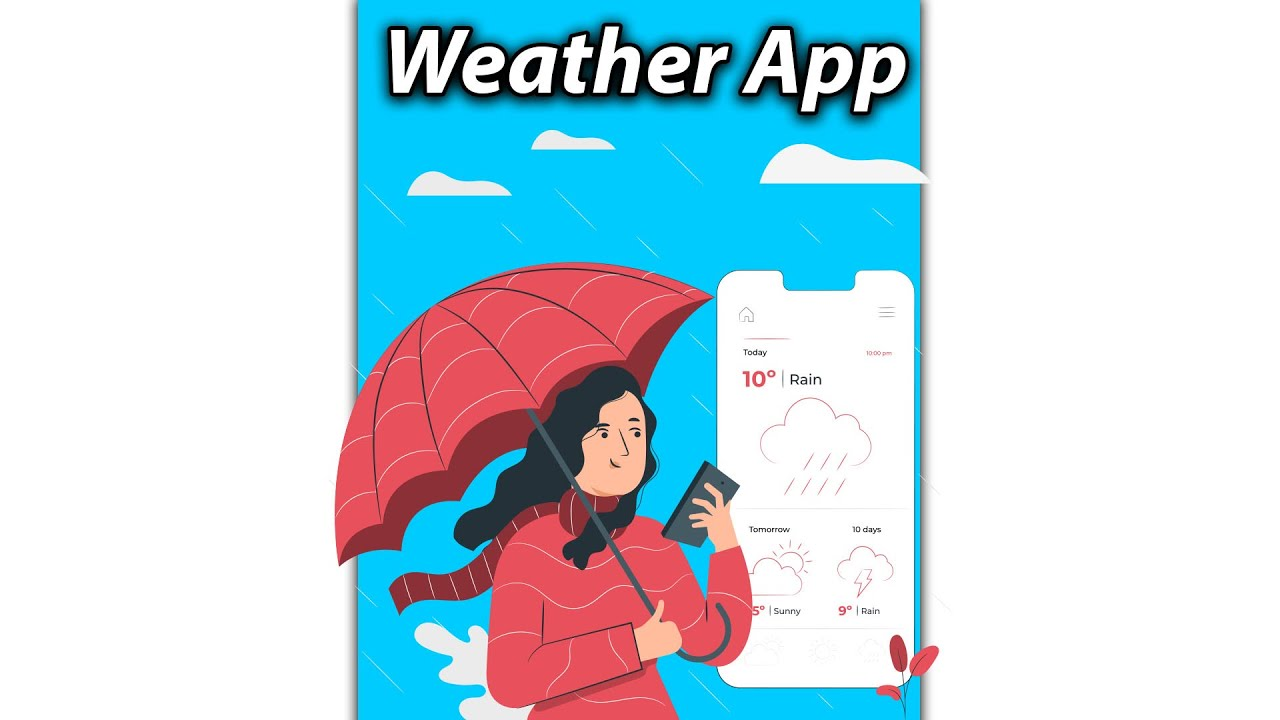 Flutter Preview - Simple Weather App [2021] For Beginners #Shorts
