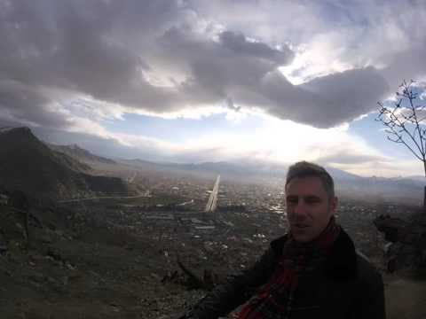 Checking the views of Kabul, Afghanistan from above