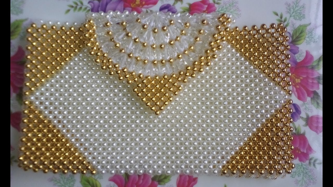 পুতির ব্যাগ/How to make a beaded purse(part-1)/beaded ...