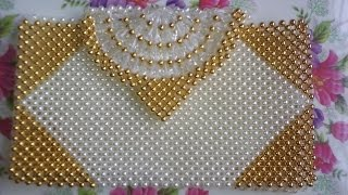 পুতির ব্যাগ/How to make a beaded purse(part-1)/beaded bag