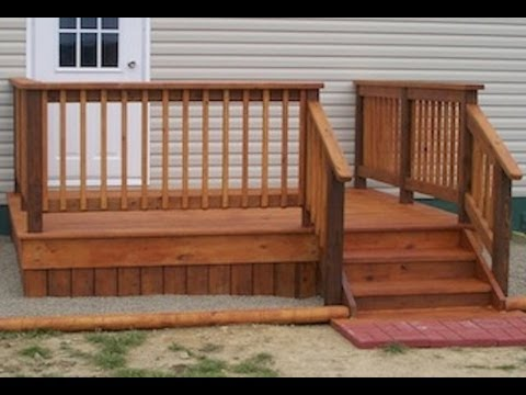 How to build an 8 x10 deck for beginners youtube for Steps to building a new home