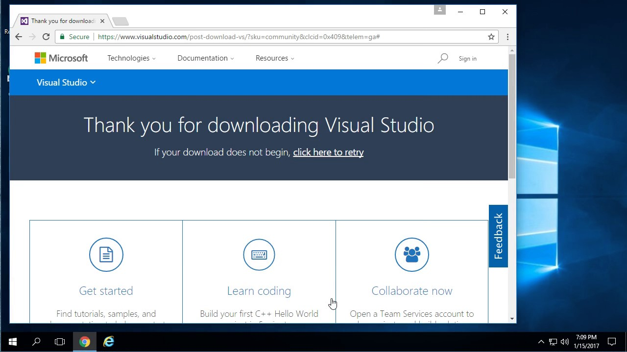 How to install Visual studio 2015 community version