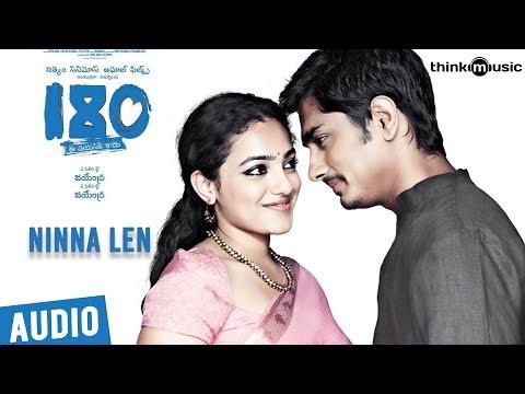 180 Songs  Telugu  Ninna Len Song  Siddharth, Priya Anand, Nithya Menen  Sharreth
