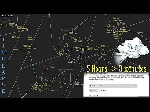 [TIME LAPSE] Chaos at Amsterdam-Schiphol | Fionn/Friedericke Storm