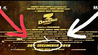 Dabangg 3 trailer DECEMBER spelling incorrect mistake video proof.