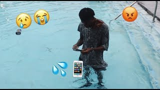 CRAZY GIRLFRIEND THROWS IPHONE 7 IN THE POOL!!! (GONE WRONG)