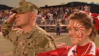 Repeat youtube video Father Surprises Cheerleader