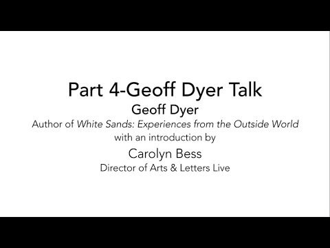 Art This Week-At the Dallas Museum of Art-Arts & Letters Live-Part 4-Geoff Dyer Presentation