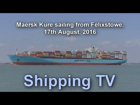 Maersk Kure sailing from Felixstowe, 17 August 2016