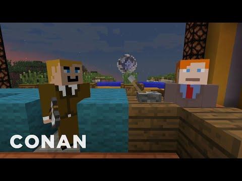 Watch the Minecraft episode that Conan O'Brien was forbidden to make