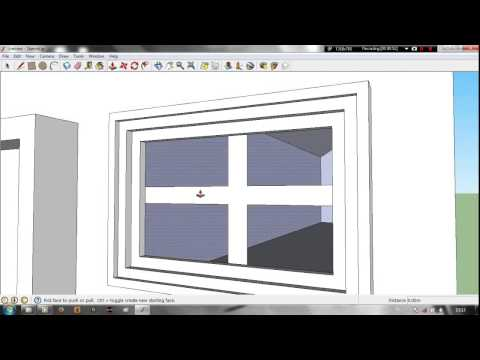 Google sketchup lesson 1 modeling a simple house youtube for Minimalist house sketchup