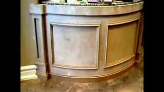 Mouldings Are Finish On The Front Reception Desk.....